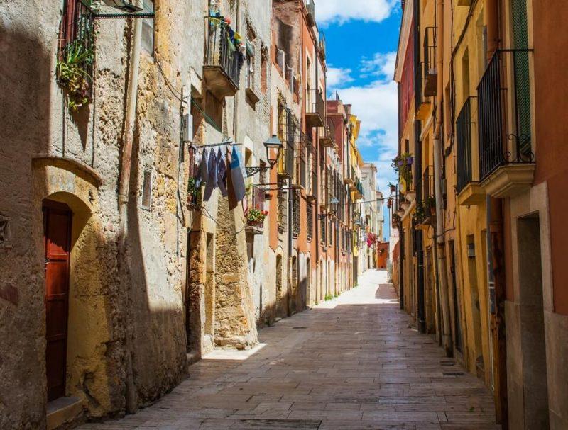 La Calles de un pueblo de Espana